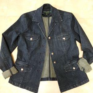 Ralph Lauren Jeans Co Stretch Denim Blazer Jacket